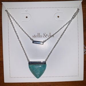 Stella & Dot Turquoise layered necklace